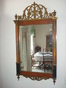 ANTIQUE EMPIRE ALL WOOD WALL MIRROR