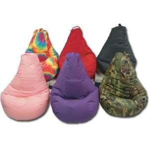 Cargo Pocket Dorm Bean Bag Chair in Purple