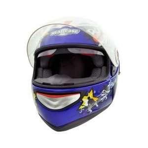 Headcase HC 888G Rock Blue Full Face Motorcycle Helmet Sz