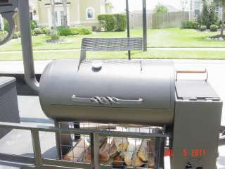 Custom Made STEEL BBQ Gun shaped Smoker Pit with Trailer 7H x 13L