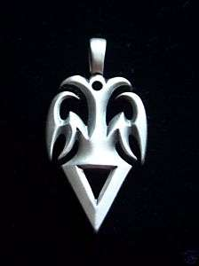 Bico Pewter Tribal Tattoo Art Pendant Ashkela Masculine Heraldic