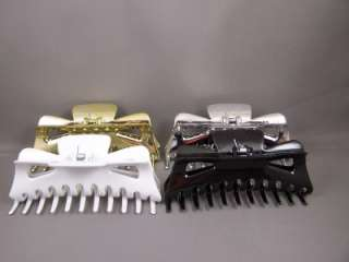 Solid white plastic BIG hair clip claw clamp 5.25 long