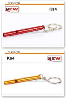 Mini Survival Whistles 6 colors Camping KeyChain Ks04