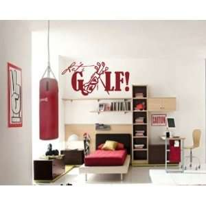 Golf Sports Vinyl Wall Decal Sticker Mural Quotes Words Go003letsv