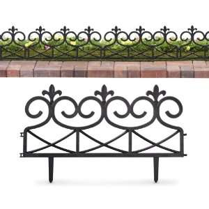 Scroll Look Black Garden Border  4 Pieces By Collections