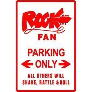 ROCK FAN PARKING music rock & roll band sign