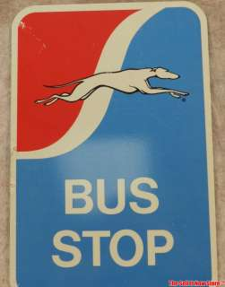 Vintage Greyhound Bus Lines Double sided tin lithograph sign 12x18
