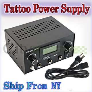 New Pro Kit LCD Digital DUAL Tattoo Power Supply Machine Cord Set