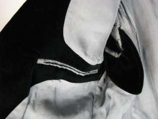 AMAZING 60s VTG Mens BLACK VELVET BLAZER Sport Coat Jacket DOUBLE VENT