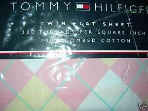 TOMMY HILFIGER~BLAIR~TWIN FLAT SHEET~NEW~