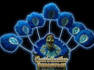 BLUE Drag Queen CABARET Feather VEGAS SHOULDER Harness
