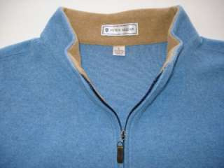 Peter Millar Blue Half Zip Wool Sweater ~ Size L