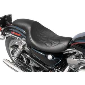 Danny Gray Short Hop Two Up XL Flame Stitch Motorcycle Seat For Harley