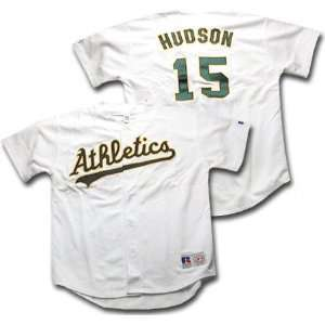 Tim Hudson Russell Athletic Russell Replica Home Oakland Athletics