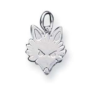 Genuine IceCarats Designer Jewelry Gift Sterling Silver Fox Head Charm