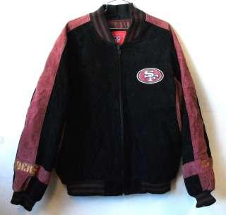 SAN FRANCISCO 49ERS LEATHER SUEDE JACKET M L XL 2XL CLOSEOUT STYLE B