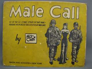 Vintage 1945 MALE CALL COMIC STRIP BOOK Milton Caniff