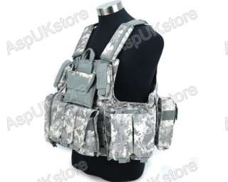 Molle Airsoft Tactical Strike Plate Carrier Vest ACU AG