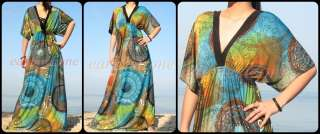 Party Blue Plus Size Prom Beach Cocktail Formal Long Maxi Dress