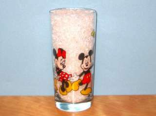 COLORFUL DISNEY GLASS   MICKEY, MINNIE, DONALD, GOOFY & PLUTO