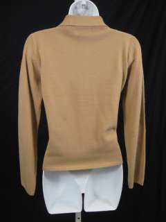 COUSIN JOHNNY Tan Knit Cardigan Sweater Jacket SZ S