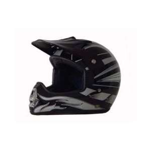 DOT ATV Dirt Bike MX Black Graphic Motorcycle Helmet Automotive