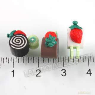 30x Mixed Mini Sushi Fimo Charm Embellishments 250092