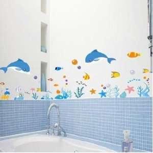 Fish Nursery/Kids Room Wall Art Sticker Decals Under the Sea, Fish