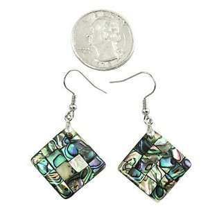 Abalone Square Dangle Earrings Fashion Jewelry Jewelry