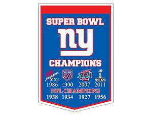 New York GIANTS Super Bowl Champions Decal / Sticker 8