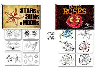 Tattoo Flash Art Books Stars Sun Moon and Roses