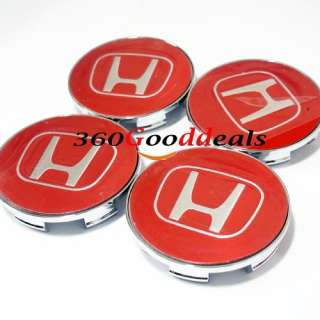Acura  Parts on Red Emblem Wheel Center Cap Honda Accord Civic Odyssey Ridgeline Pilot