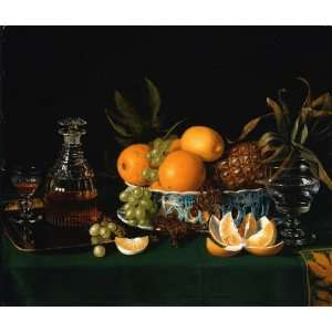 24 x 20 inches   Still Life on a Green Table Clo