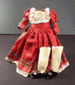 French Silk Taffeta Dress 9 10Jumeau Steiner Bru Bebe Doll