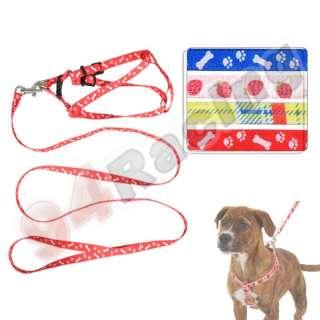 47 Pet Dog Safety Leash Harness Nylon Strap Multi Patterns