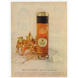 1959 Calvert Reserve Whiskey J von der Lancken Decanter 2 Page Print
