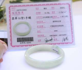 Certified A Grade Untreated Chinese Jadeite Icy Green Old Jade Bangle