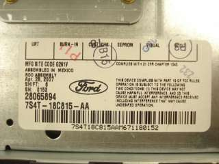 NEW 05 06 07 FORD Focus F250 F350 Radio  6 Disc CD Changer Player