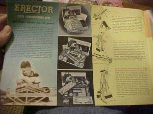 1953 CATALOG, AMERICAN FLYER TRAINS ERECTOR & other GILBERT TOYS