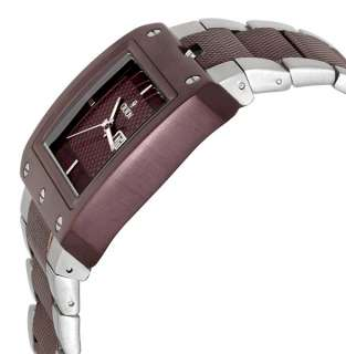 Gents Croton Stainless Steel Large Day Date Watch NEW 609722461962