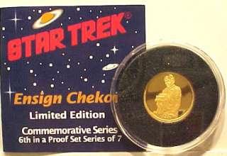Classic Star Trek Chekov 1/4 Oz Pure Gold Proof Coin