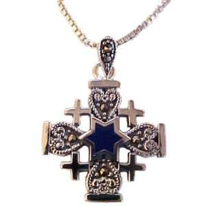 Fashion Jewelry ~ Sterling Silver Jerusalem Cross and Star of David