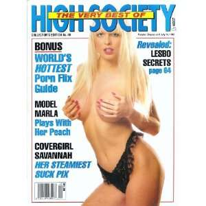 SAVANNAH, RAQUEL DARRIN, SANDRA SCREAM: HIGH SOCIETY MAGAZINE: Books