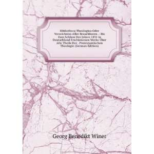 Theologie (German Edition) Georg Benedikt Winer Books
