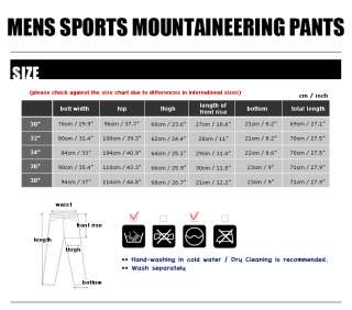 Cycling Mountaineering Climbing Hiking Spandex Shorts Pants Bottom