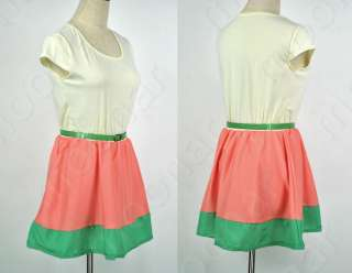 New Fashion Women Mini Dress Short Sleeve Sundress Casual
