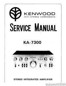 Kenwood KA 7300 Amplifier Service Manual in PDF format