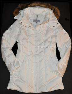 New MARC NEW YORK Down COAT Quilted Winter Womens Hooded White Size