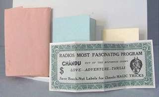 1930 Vintage Beech Nut Chewing GUM CHANDU Magician PREMIUM Magic Money