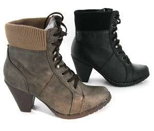WOMENS MILITARY ARMY SOFT TOP COMBAT WORKER BOOTS 3 8